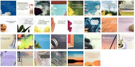 Übersichtsbild - Bilder Galerie mit Lebensweisheiten, Weisheiten, Zitate Bilder, Sprichwörter, Affirmationen und Sprüche Bilder des Tages November 2020