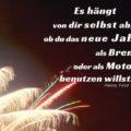 Beitragsbild - Es hängt von dir selbst ab, ob du das neue Jahr als Bremse oder als Motor benutzen willst