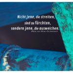 Boot Unterboden mit Teil einer Schiffsschraube und Ebner-Eschenbach Zitate Bilder: Nicht jene, die streiten, sind zu fürchten, sondern jene, die ausweichen. Marie von Ebner-Eschenbach