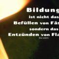 Bildung ist nicht das Befüllen von Fässern, sondern das Entzünden von Flammen - Heraklit