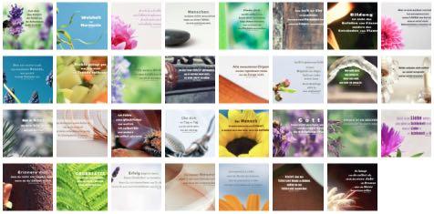 Übersichtsbild - Bilder Galerie mit Lebensweisheiten, Weisheiten, Zitate Bilder, Sprichwörter, Affirmationen und Sprüche Bilder des Tages Januar 2021